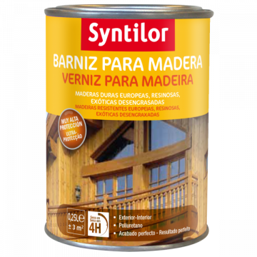 Barniz de poliuretano al agua Syntilor